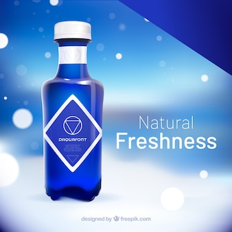 Natural water advertisement in realistic style