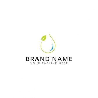 Natural water logo template