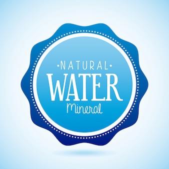 Природные воды на синем фоне векторные иллюстрации