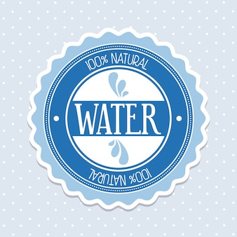Естественная вода над пунктиром векторная иллюстрация