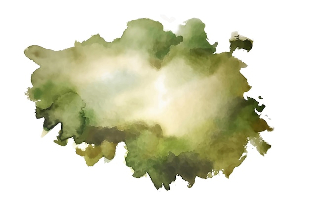 自然な水彩画の緑のテクスチャ