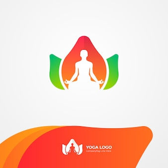 Natural yoga health logo
