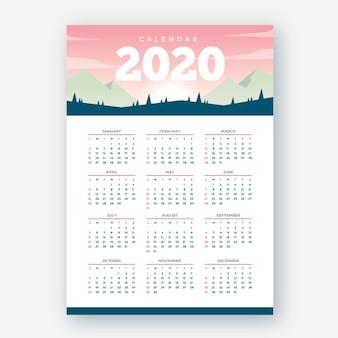 Nature 2020 calendar template