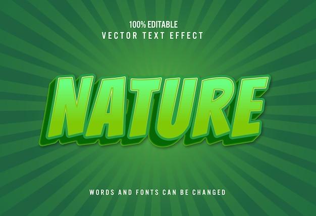 자연 3d 편집 가능한 텍스트 효과