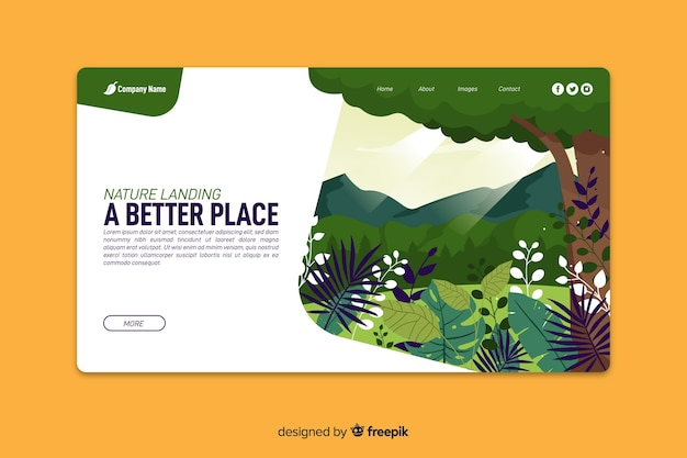 Nature abstract landing page
