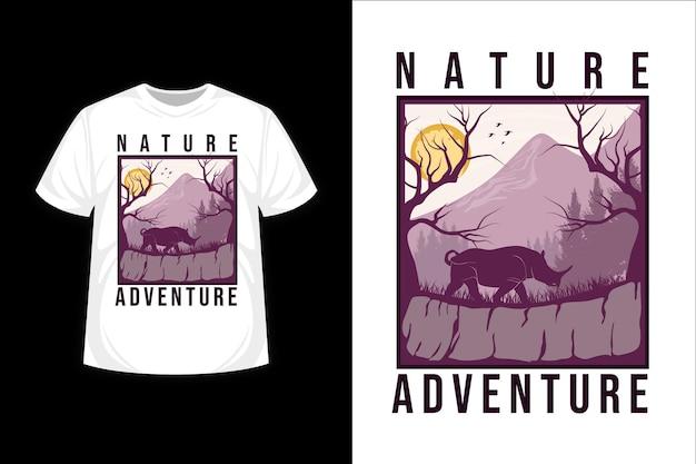 Nature adventure flat illustration t shirt design