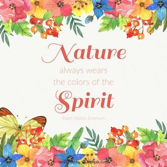 自然は常に精神の背景の色を身に着けています