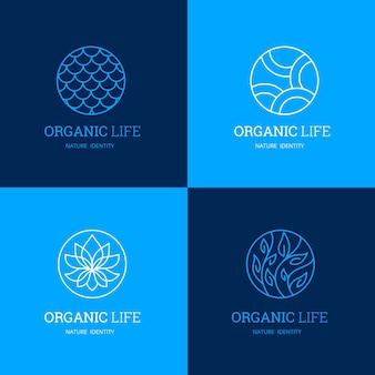 自然とロゴのテンプレート
