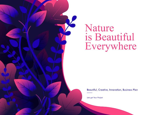 Nature background template