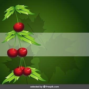Sfondo della natura con le ciliegie