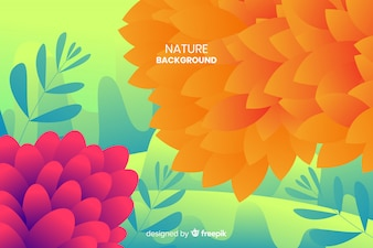 Nature background with colorful leaves