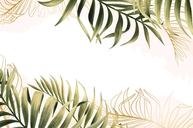 Nature background with gold foil