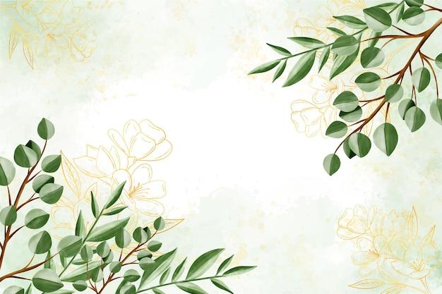 Природа фон с золотой фольгой