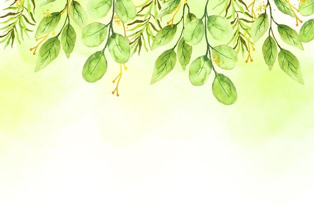 Sfondo della natura con foglia d'oro