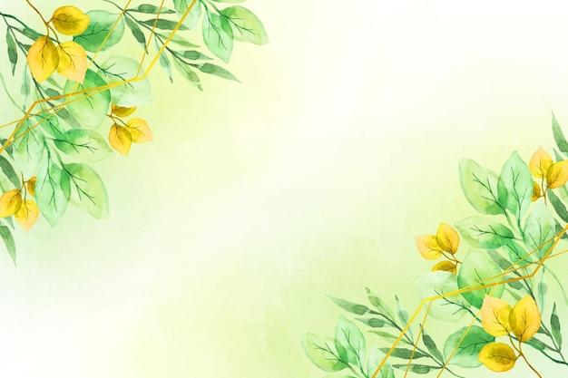 黄金の箔と自然の背景