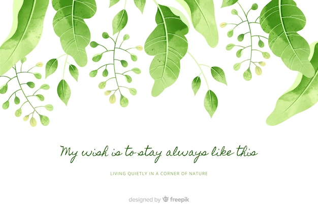 Nature background with quote