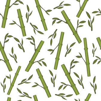 Природа бесшовный фон из бамбука