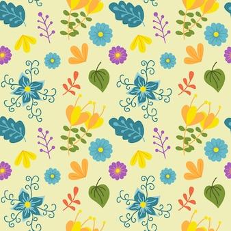 Nature beautifull flower seamless pattern background