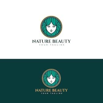 自然の美しさのロゴ