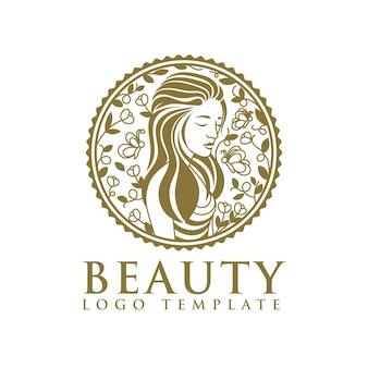 Nature beauty woman logo design