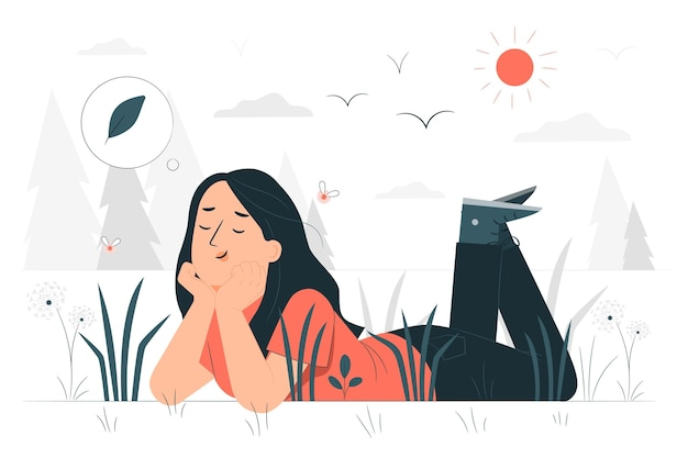 Иллюстрация концепции преимуществ природы