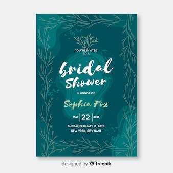 Nature bridal shower card template