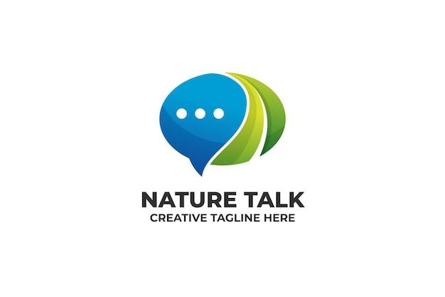 Nature bubble chat message bubble chat logo