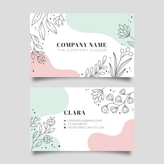 Nature business card theme