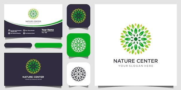 ネイチャーセンターのロゴと名刺のデザイン。