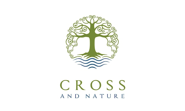 Nature church christian logo design