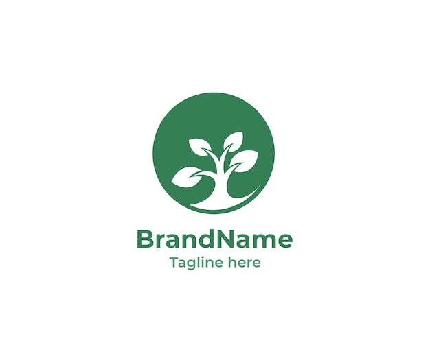 Nature circle growing logo
