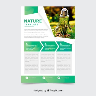 Nature concept flyer template
