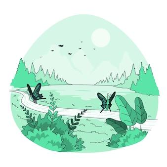 Illustrazione di concetto di natura
