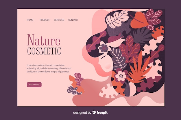 Nature cosmetic landing page template