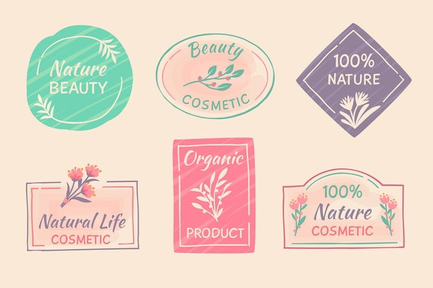 Nature cosmetics badge collection