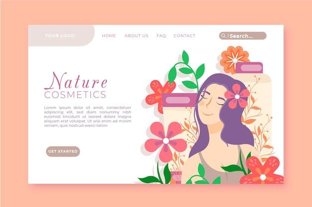 Шаблон целевой страницы натуральной косметики