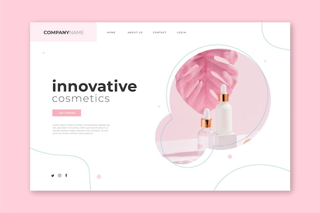 Nature cosmetics landing page template
