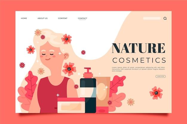 Шаблон целевой страницы природной косметики