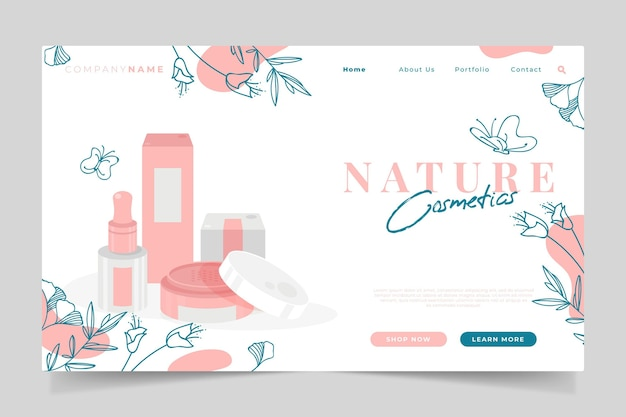 Nature cosmetics landing page theme