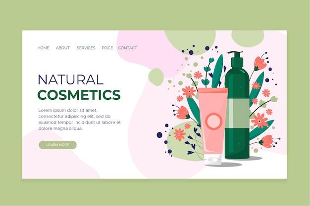 Nature cosmetics - landing page