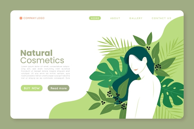 Целевая страница натуральной косметики