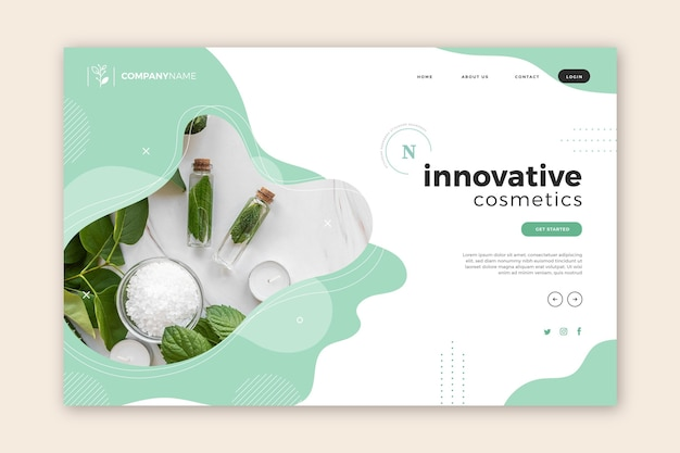 Nature cosmetics - landing page