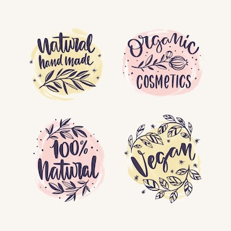Nature cosmetics logo collection