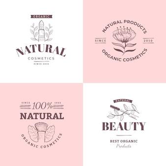 자연 화장품 로고 컬렉션