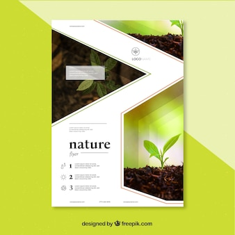 Nature cover template with image