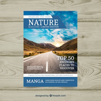 Nature cover template