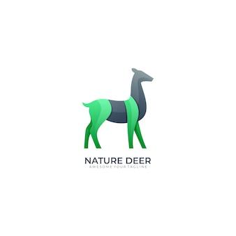 Современный шаблон логотипа градиента цвета оленя