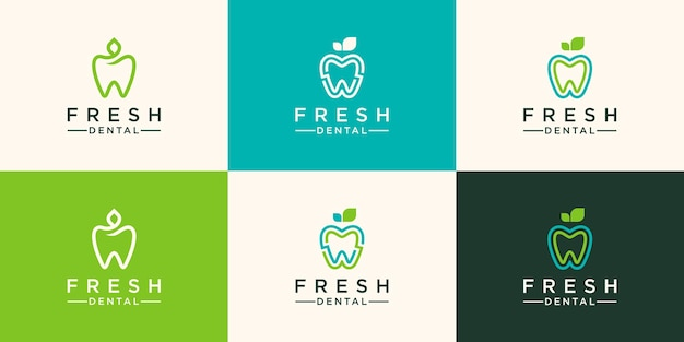 Nature dental logo template design