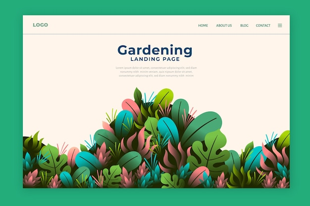 Pagina di destinazione del design della natura