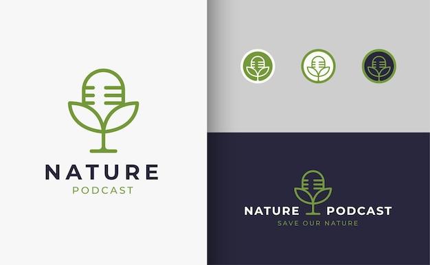 Дизайн логотипа подкаста обсуждения природы